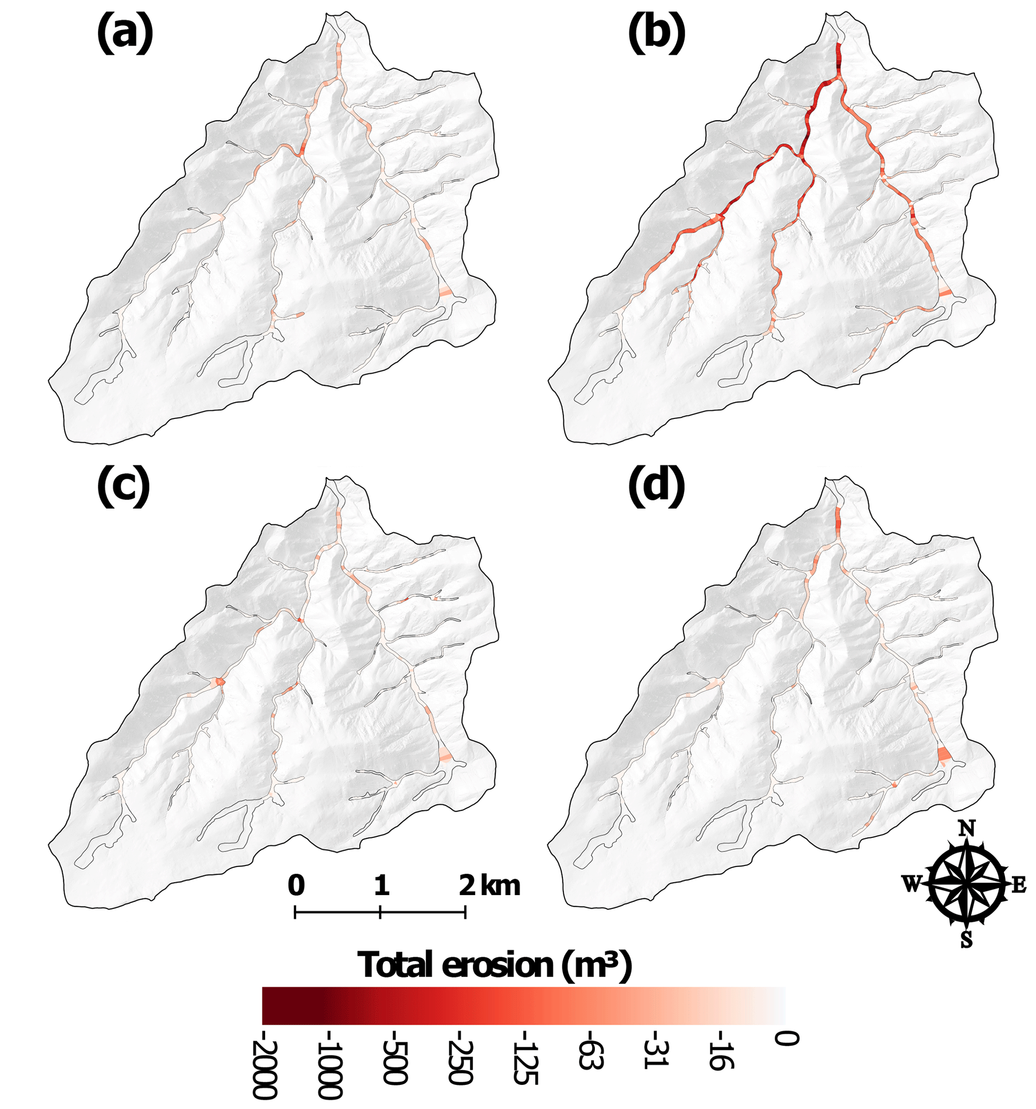 ESurf - Spatial and temporal patterns of sediment storage